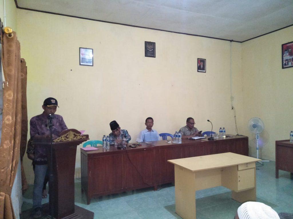 Acara Serah Terima Jabatan Kades Lama Ke Pj Kades Lubuk